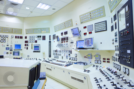 Power Station Control Room interior stock photo, The control room of a power generation plant by Dmitry Pistrov