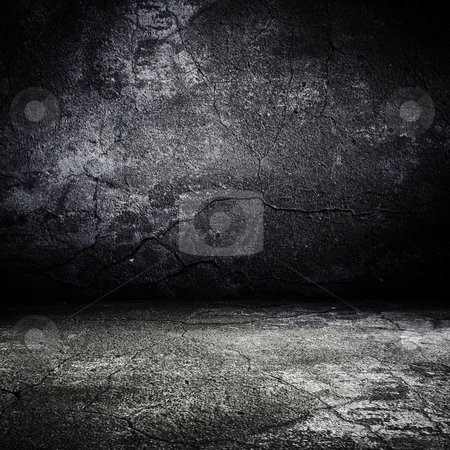 Old grunge scary room with concrete texture stock photo, old grunge scary room with concrete texture by pashabo