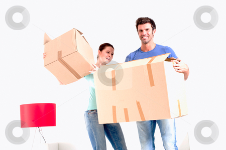 Moving into new home stock photo, moving into new home by ambrophoto