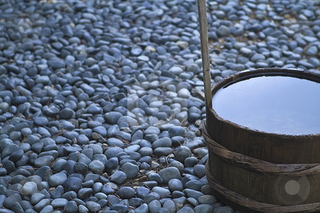 Water Barrel stock photo, Decoration infront of Kongoubu Temple Mount Koya, Japan by Kinokocha