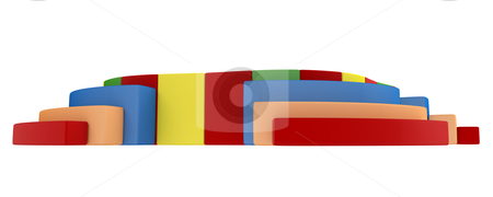 Colorful playground stock photo, Colorful children`s playground isolated on white background by Nmorozova