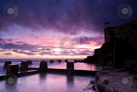 Dawn at Coogee - Sydney Beach stock photo, Dawn at a tidal pool in Coogee - a famous beach in eastern Sydney (it is near Bondi) by mroz