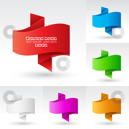 Banners set. stock photo, Wave Banners set. Illustration on white background for design by dvarg