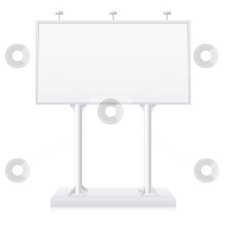 Billboard stock photo, Billboard with place for your text. Illustration on white background by dvarg