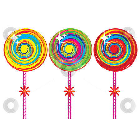 Set of colorful lollipops stock photo, Set of colorful lollipops. Illustration on white background by dvarg