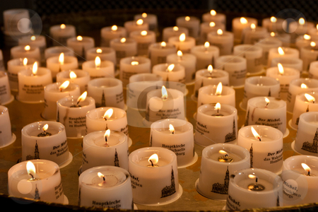 Candles stock photo, Candles inside St. Michaelis Church in Hamburg, Germany by Mariusz Jurgielewicz