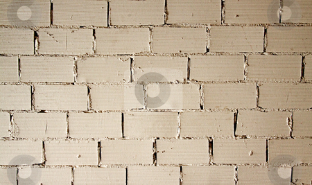 Wall stock photo, Background of a wall with white bricks by Fabio Alcini