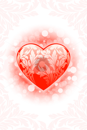 Valentines day Heart background stock photo, Abstract Valentine's day Heart background with sparkle by Vadym Nechyporenko