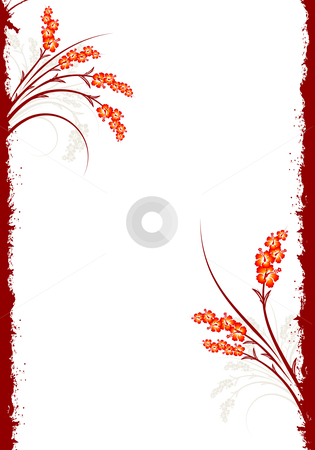 Abstract Grunge Floral Background stock photo, Abstract Spring Grunge Decorative Floral Background Vector Illustration by Vadym Nechyporenko
