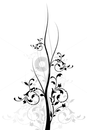 Floral Background stock photo, Abstract background with floral elements, digital artwork by Vadym Nechyporenko