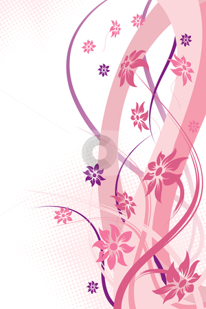 Abstract flowers stock photo, Abstract Floral Background. Vector illustration. Abstract Pattern. by Vadym Nechyporenko