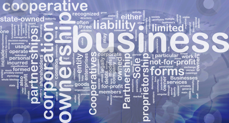 Business corporateion background concept stock photo, Background concept wordcloud illustration of business corporation ownership international by Kheng Guan Toh