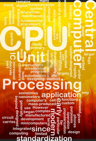 CPU word cloud stock photo, Word cloud concept illustration of computer CPU international by Kheng Guan Toh