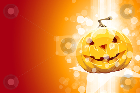 Abstract background with pumpkin stock photo, Abstract party background with pumpkin and sparkles by Vadym Nechyporenko
