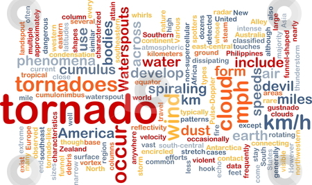 Tornado storm background concept stock photo, Background concept wordcloud illustration of tornado storm weather by Kheng Guan Toh