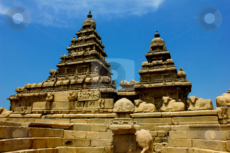 Shore temple—Mahabalipuram,chennai, India  stock photo, Shore temple-Relief sculpture,  by ajithclicks