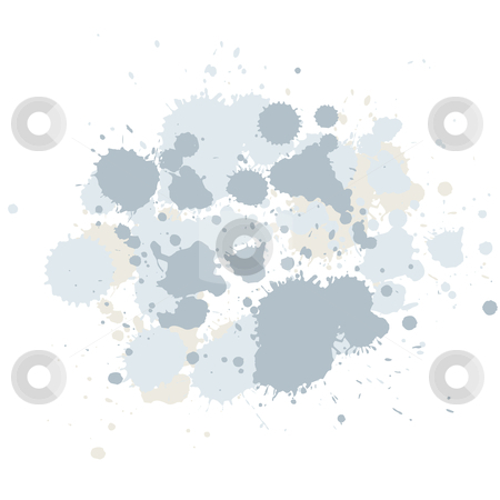 Abstract composition of brush blots stock photo, abstract composition of brush blots, digital artwork by Vadym Nechyporenko