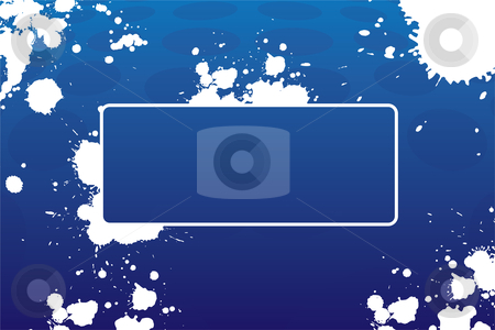 Abstract grunge frame stock photo, Abstract grunge frame with blots in blue color by Vadym Nechyporenko