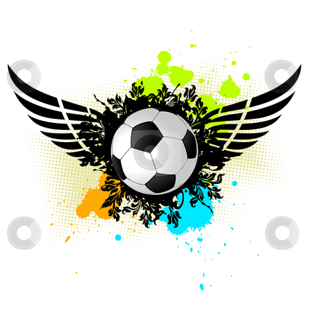 Grunge Soccer Ball stock photo, Vector grunge illustration of a soccer ball for your design by Vadym Nechyporenko