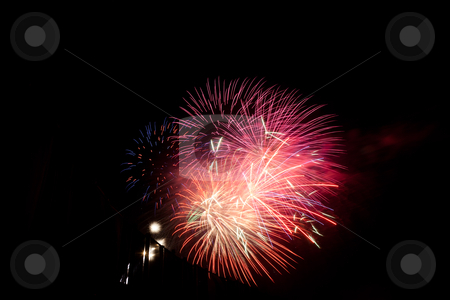 Fireworks stock photo, Fireworks Finale of Celebrate America patriotic festival at Shoreline Amphitheatre in Mountain View by Mariusz Jurgielewicz