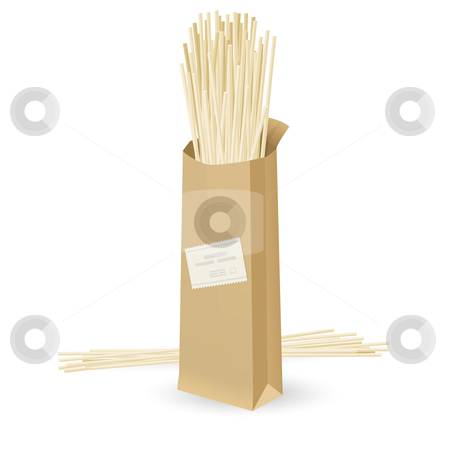Realistic package spaghetti stock photo, Realistic package spaghetti. Illustration on white background   by dvarg
