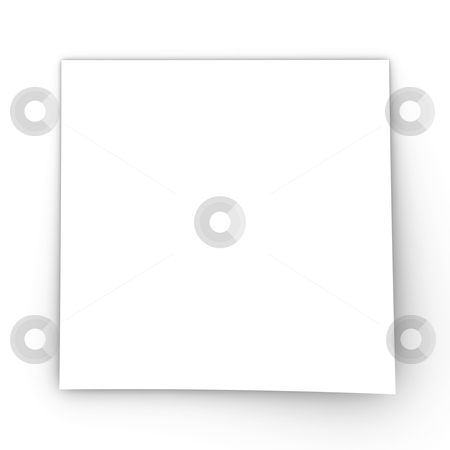 Note Paper stock photo, 3D Illustration. Isolated on white.  by Michael Osterrieder