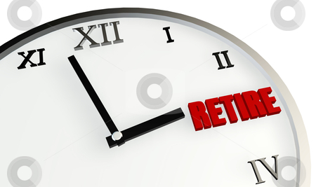 Retirement Time stock photo, Retirement Time Coming Soon and Planning on Clock by Kheng Ho Toh