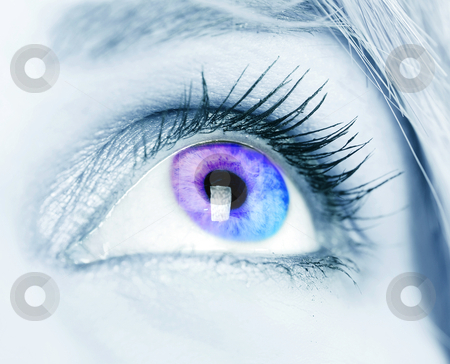 Colorful eye stock photo, Colorful eye close-up shot by sutike