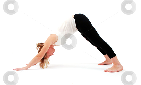 Beautiful girl practicing yoga stock photo, Beautiful girl practicing yoga by sutike
