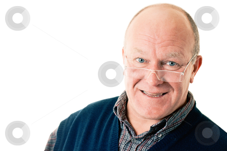 Portrait of confident man in glasses stock photo, Portrait of confident man in glasses isolated on white by Andrey Yanevich