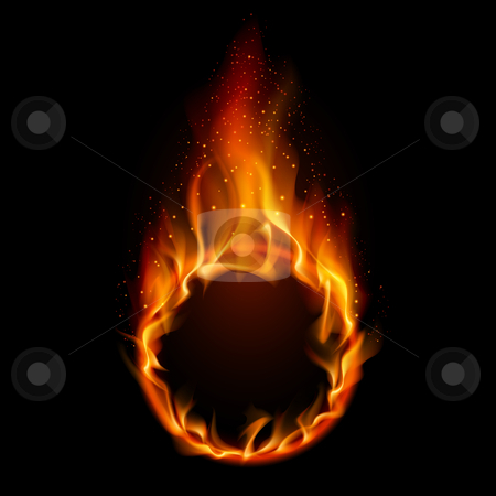 Ring of Fire stock photo, Ring of Fire. Illustration on black background for design by dvarg