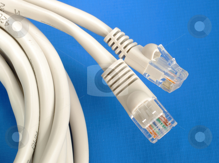 Close up view of some computer Ethernet cables stock photo, Close up view of some computer Ethernet cables by johnkwan