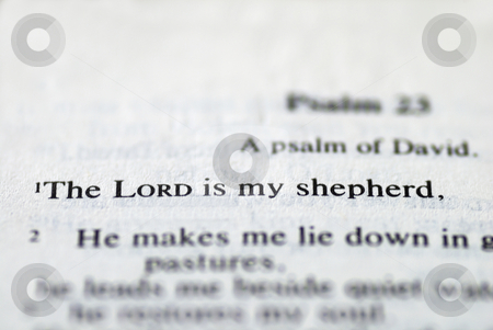 From the Bible: The Lord is my shepherd stock photo, From the Bible: The Lord is my shepherd by johnkwan