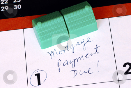 Be sure to pay the home mortgage on time  stock photo, Be sure to pay the home mortgage on time  by johnkwan