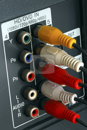 Close up view of the video line-in panel stock photo, Close up view of the video line-in panel by johnkwan
