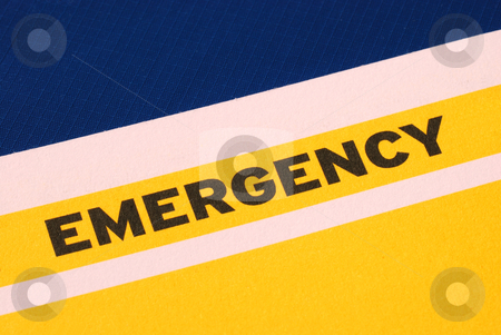 The word Emergency concepts of urgency and risk stock photo, The word Emergency concepts of urgency and risk by johnkwan