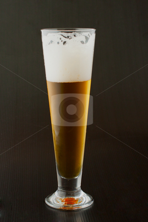 Beer stock photo, A glass of beer over a black background by Fabio Alcini