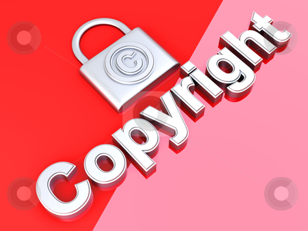 Copyright protection stock photo, Copyright symbol. 3D rendered Illustration.  by Michael Osterrieder
