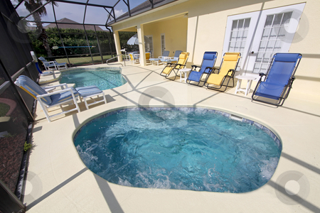 Large Spa and Swimming Pool stock photo, A large spa and a swimming pool by Lucy Clark