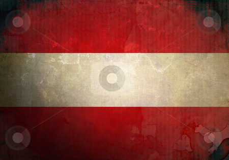 Grunge Austria Flag stock photo, Austria flag on old and vintage grunge texture by HypnoCreative