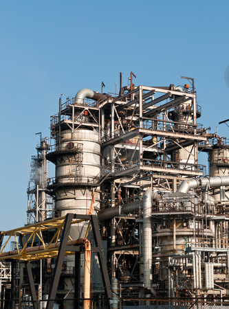 Petrochemical Refinery Plant stock photo, A petrochemical refinery plant by Brian Guest