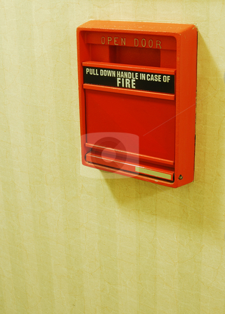 An old fire alarm concepts of fire safety stock photo, An old fire alarm concepts of fire safety by johnkwan