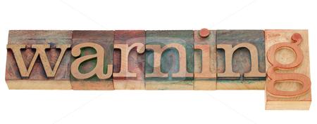 Warning word stock photo, warning - isolated word in vintage wood letterpress printing blocks by Marek Uliasz