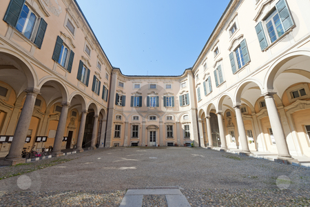 Pavia, historic palace stock photo, Pavia (Lombardy, Italy) the historic Palazzo Olevano by clodio
