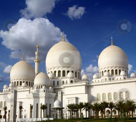 Sheikh Zayed mosque stock photo, Sheikh Zayed mosque in Abu-Dhabi, UAE by HypnoCreative