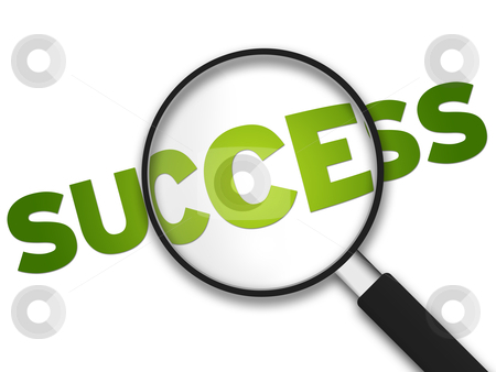 Magnifying Glass - Success stock photo, Magnifying Glass with the word Success on white background. by kbuntu