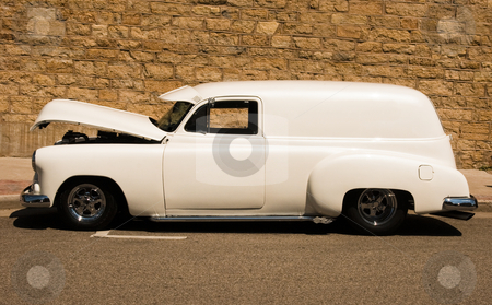 Old panel van stock photo, classic panel van hotrod restored to mint condition by digitalreflections