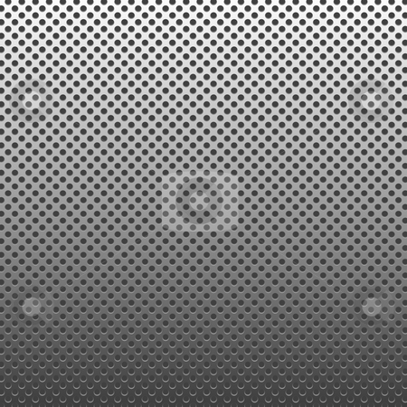 Metal Dotted Silver stock photo, Circle texture metal abstract background with dots by Henrik Lehnerer