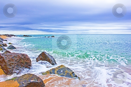 Beach and sea stock photo, beach and sea in summer time by danielitos