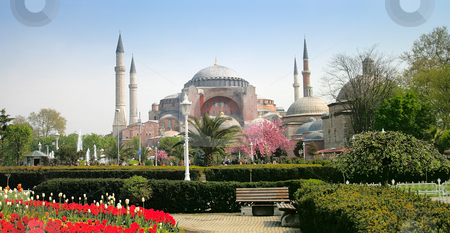 The Hagia Sophia stock photo, The Hagia Sophia in Istanbul, Turkey by Luba Kinyaeva